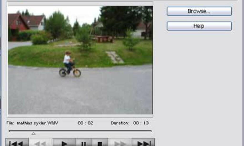 En fin ny funksjon er muligheten til å kopiere stillbilder fra videofiler.