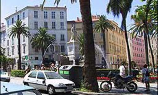 Fra sentrum i Ajaccio på Korsika. Foto: Brynjulf Blix Foto: Brynjulf Blix