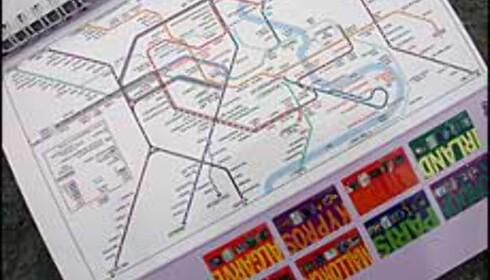 Det er greit å vite hvor nærmeste metrostasjon befinner seg... Dette kartet er hentet fra Gyldendals Spiralguide.<br /> <I>Alle bilder: Inga R. Holst</I>