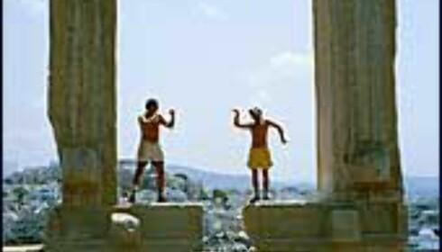 Et av de mest kjente motivene på Naxos er Portára-porten fra det uferdige Apollon-tempelet. <I>Martin Vestre</I>