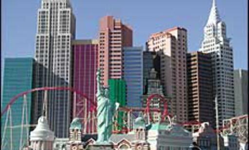 Under oppholdet i USA planlegger Jørgensen/Igland å besøke Las Vegas. Her ser vi bilde at et hotell som er modellert med kjente bygninger i New York som forbilde. Foto: Bjørn Eirik Loftås  Foto: Bjørn Eirik Loftås