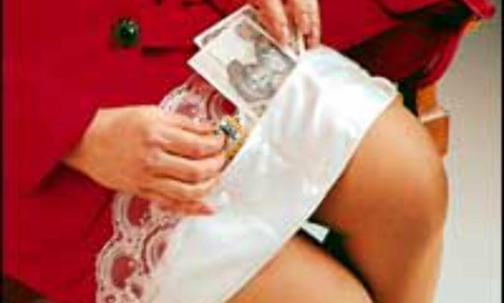 Blondeunderskjørt med lommer for å gjemme unna verdisaker.<br /> Foto: Christine Columbus Internettsider Foto: Christine Columbus
