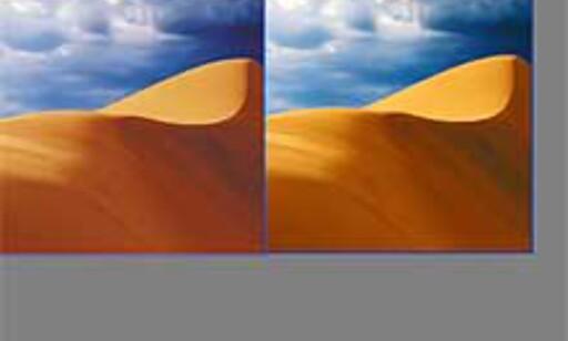 Auto Color-funksjonen, før til venstre, etter til høyre (klikk for større utgave)