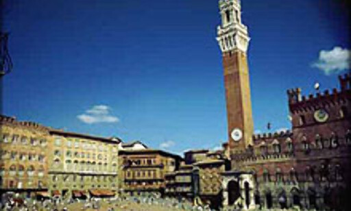 Il Campo - eller torget i Siena. Foto: Jorge Tutor.