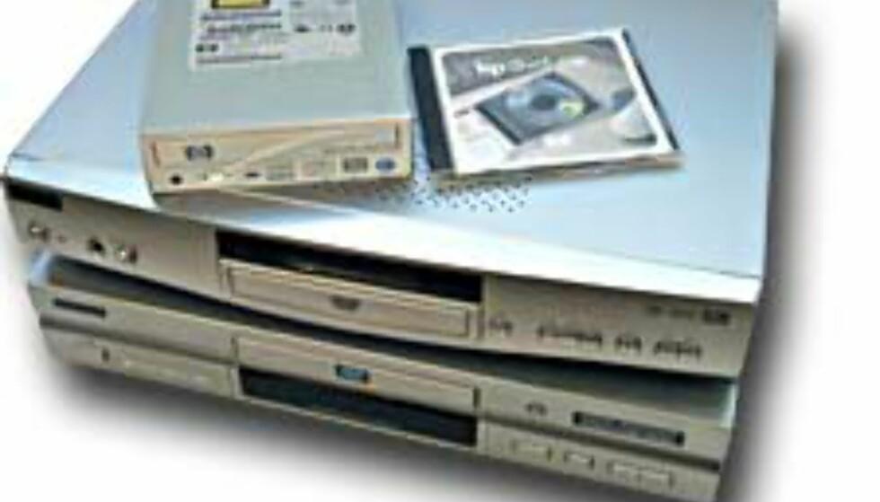 HP dvd100i DVD+RW på testbenken