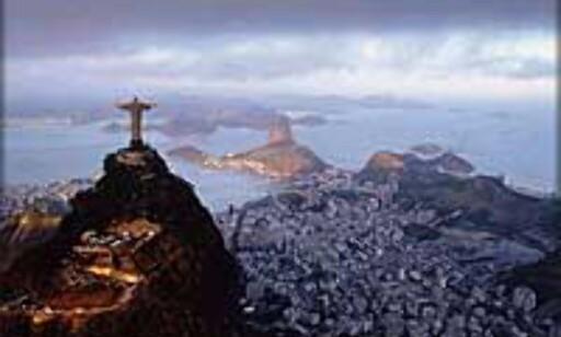 Spranget mellom fattig og rik er enormt i Brasil, som her i Rio.