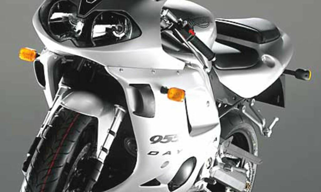 image: Stort bilde av sølvfarget 955i forfra