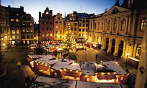 Stockholm: Julemarked i Gamla Stan. Bilde: Sveriges Turistråd.