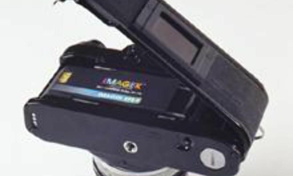 Enheten settes direkte inn i ditt gamle speilreflekskamera, og krever ingen ombygging av kamerahuset. Foto: Imagek
