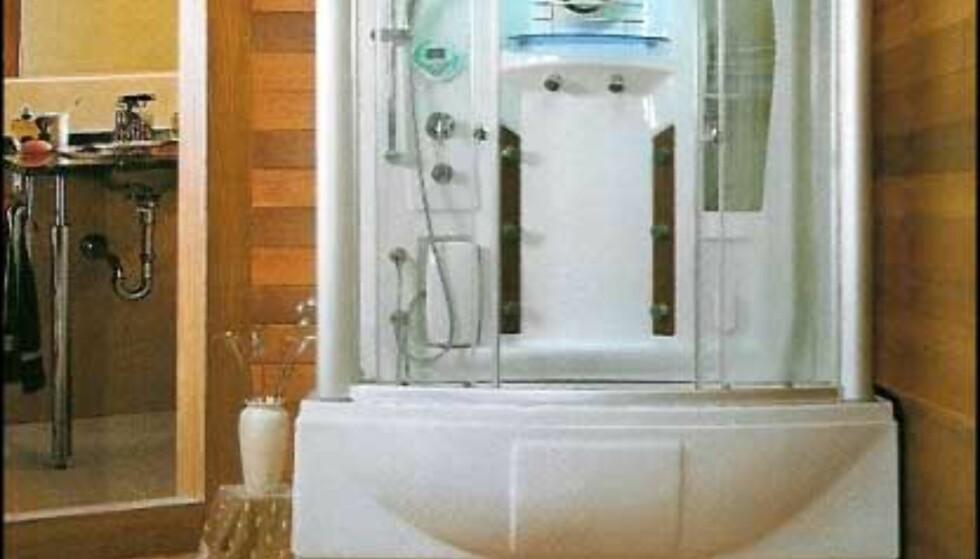 SY-8203: Dampbad og boblebad. Boblebadet har vannfall og fotmassasje. Pris 53.000 - 35.000 ved bestilling på nettet