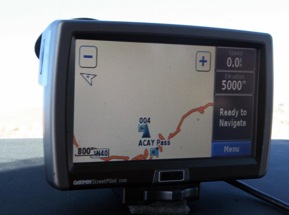 Etter å ha nådd 5000 meter valgte vi å kjøre litt til. Det ble en slitsom affære.  Foto: Fred Magne Skillebæk