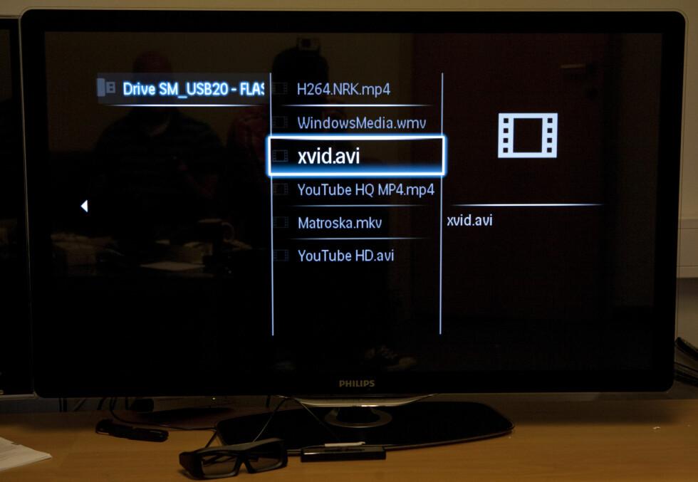 Philips: Svak formatstøtte via USB... Foto: Per Ervland