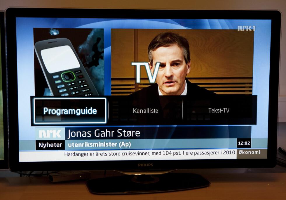Philips hurtigmenyer når du bruker RiksTV Foto: Per Ervland