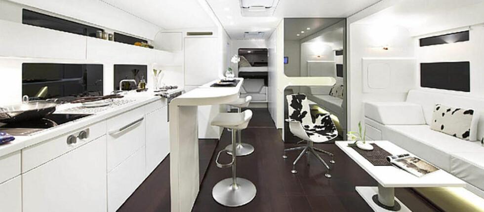 BOBIL MED STIL: Større enn kjøkkenet hjemme? Ketterer Continental har fått pris for nytenkning og ny mobilitet. Foto: Ketterer