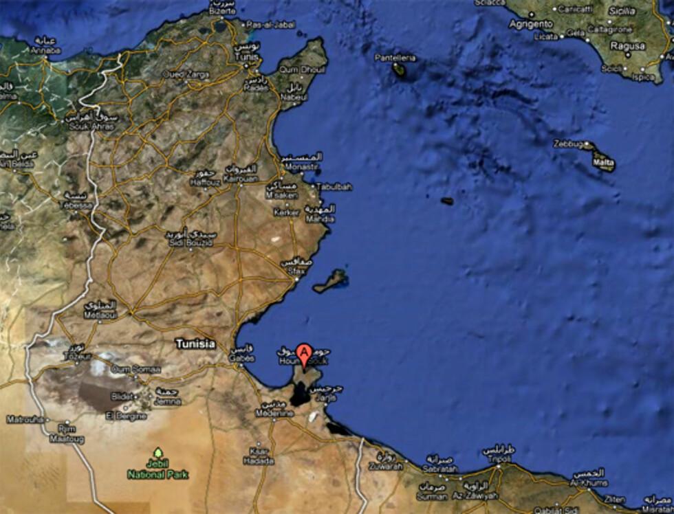 Djerba i Tunisia Foto: Google Maps