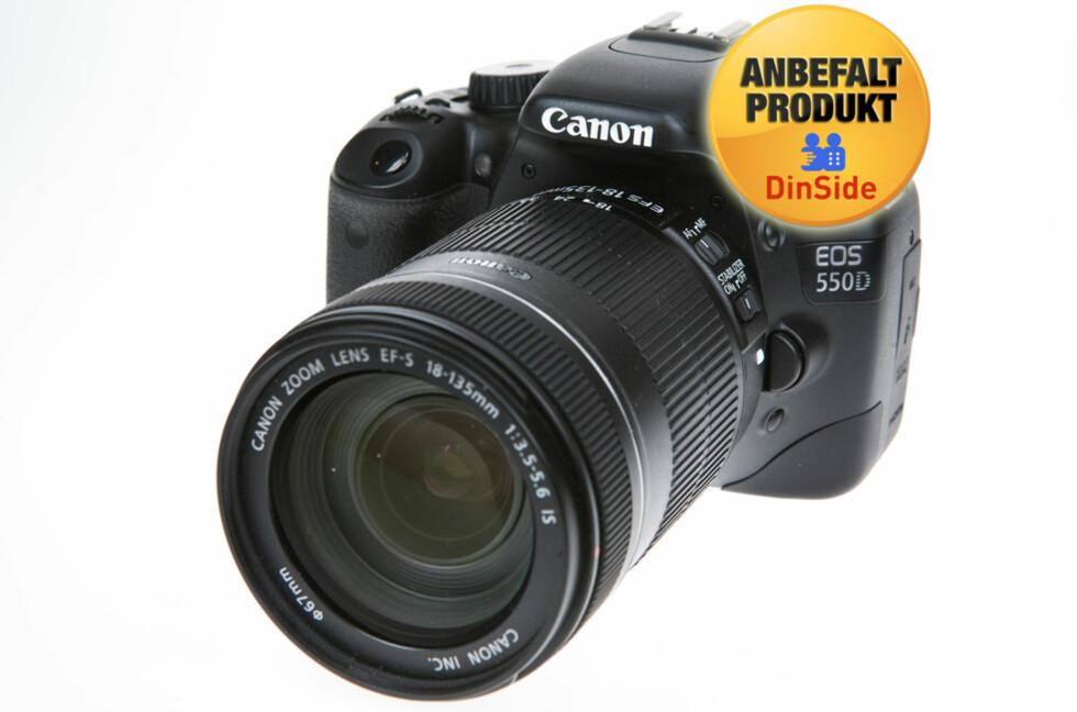 EOS 550D er Canons beste kamera for forbrukere.