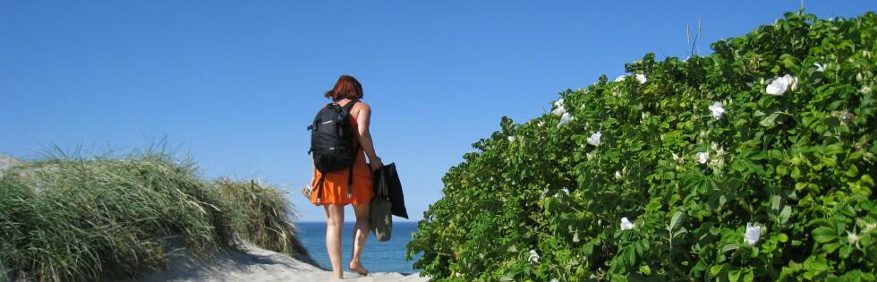 Du MÅ ikke fly for å komme deg til sommerparadiset. Her fra Orresanden på Jæren. Foto: Stine Okkelmo