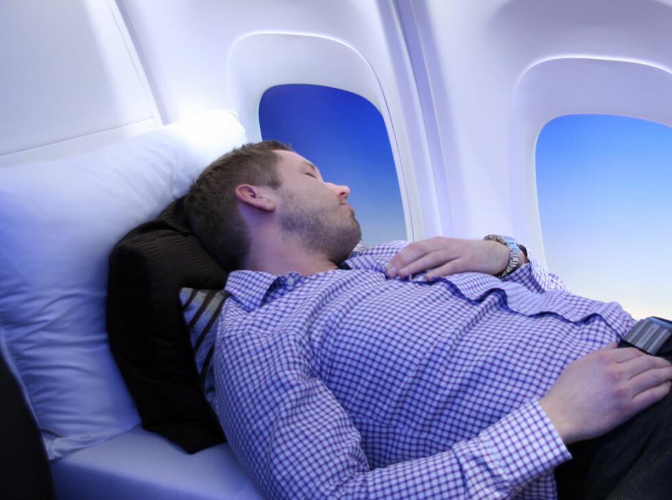 Behagelig? Ja! Men det spørs om flyselskapene tar seg rå til denne ekstreme flyluksusen. Foto: Kim Jansson