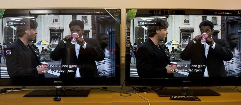 Duell: Samsungs 7020 til venstre, 6000 til høyre Foto: Per Ervland