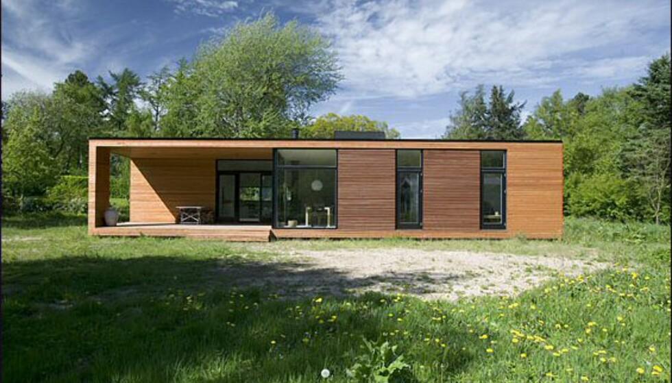 Det danske hus fra Nordbohus. Bildet er gjengitt med tillatelse fra produsenten.
