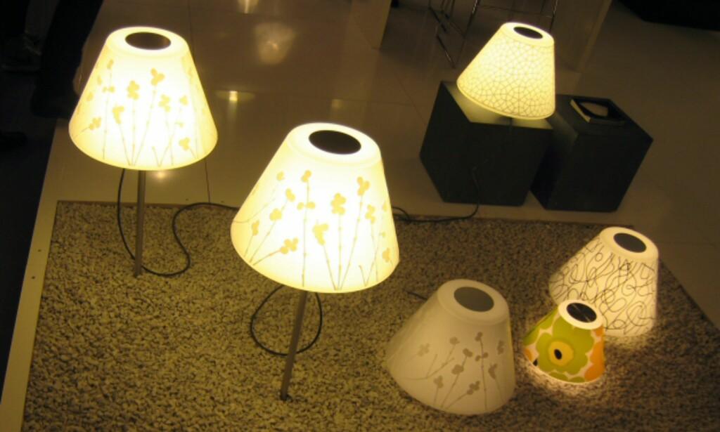 LeKlints populære UnderCover-serie fås snart også som utelamper. Lampene er hvite, og en får kjøpt film med ulikt mønster på skjermen.