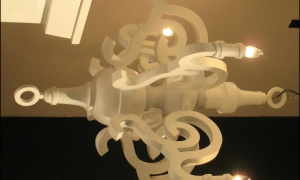 Gedigne Paper Chandelier fra Moooi er laget i papir.