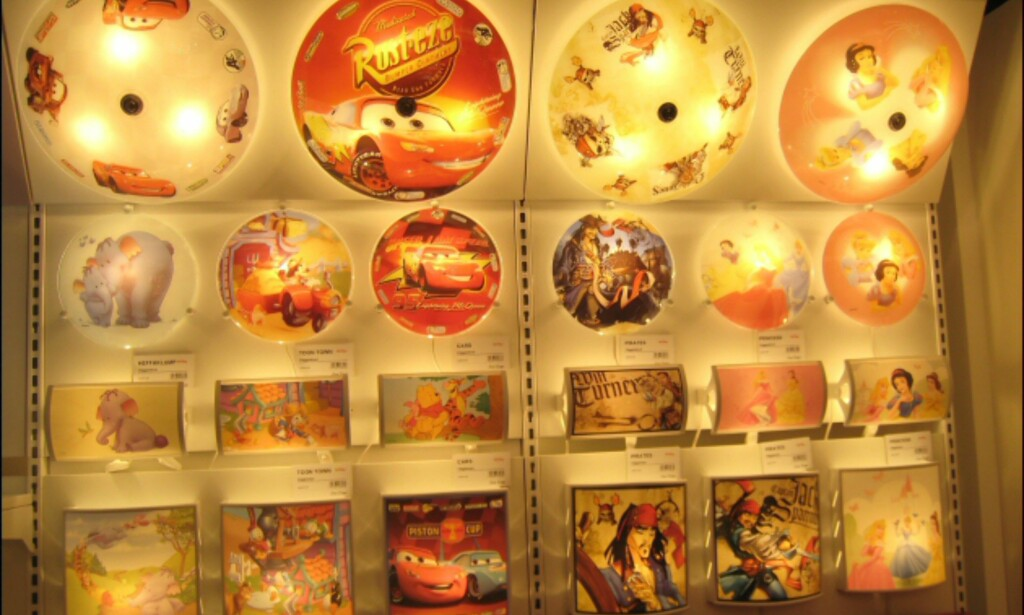 Disneymotiv fra Scan Lamps.