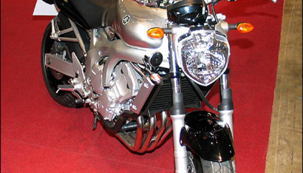 Yamaha FZ6 er en naken sykkel med oppreist kjøreposisjon. Den har en firesylindret motor på 98 hestekrefter og koster 114.600 kroner.
