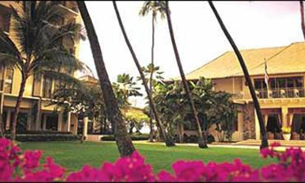 Halekulani heter dette hotellet - Honolulu er stedet.