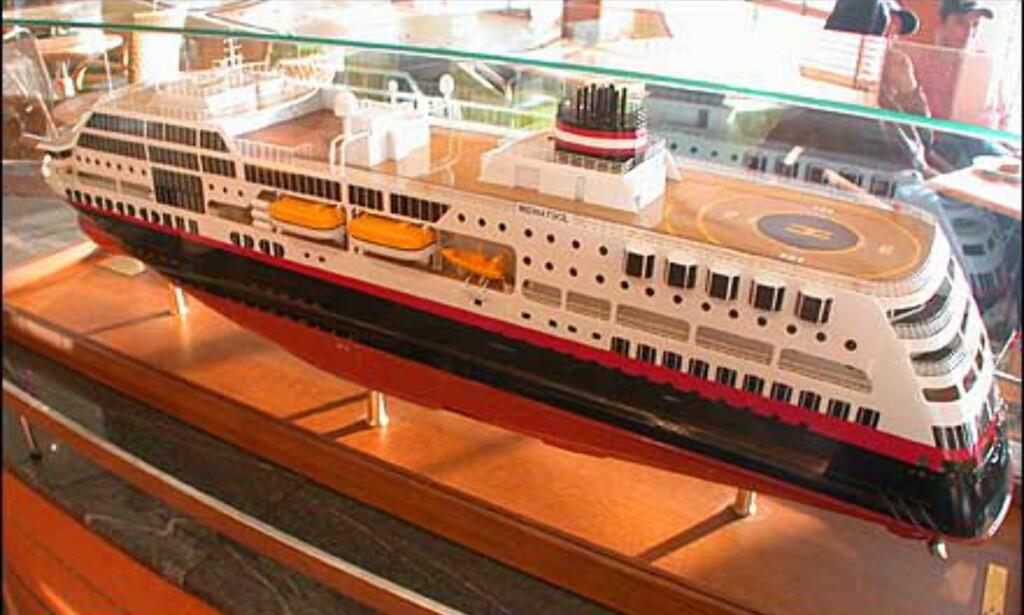 Modell av skipet.