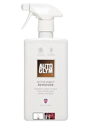 INSEKTSFJERNER: Auto glyms insektsfjerner er et av produktene flere anbefaler. FOTO: AUTO GLYM