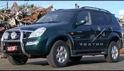 10.000 km: Kjøper du Ssangyong må du inn til service svært ofte. Ssangyong er alene om serviceintervall på 10.000 kilometer. På bildet nykommeren Rexton.