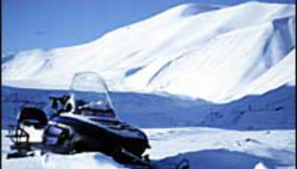 Safari på norsk kan være skutersafari på Svalbard. Foto: Kristin Sørdal