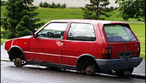 Gjennomsnittsalder på biler vraket mot pant