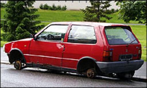 image: Gjennomsnittsalder på biler vraket mot pant