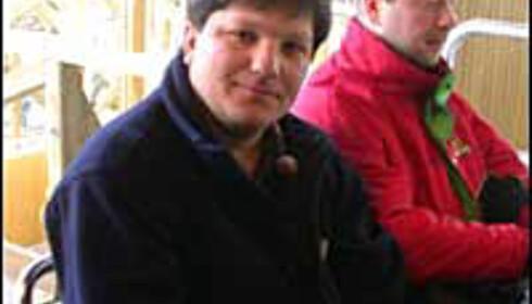 Justin Garvanovic under testkjøring av Balder på Liseberg i vår.