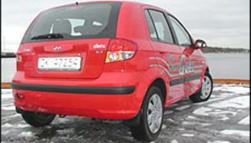 157.000: Hyundai Getz 1.3 med automatgir.