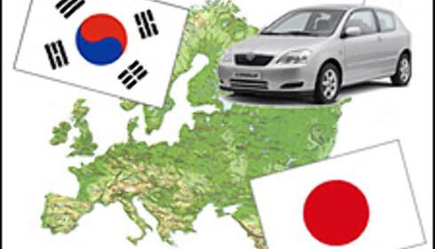 Asiatene inntar Europa