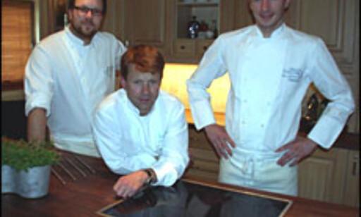 Fre venstre: Soussjef Jens Eide, daglig leder Lars Erik Underthun og kjøkkensjef Ove Jakobsen.