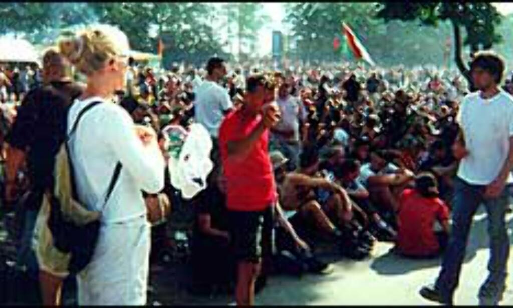 Folksomt på Roskildefestivalen.<br /> Foto: Remy Aarnes Foto: Remy Aarnes