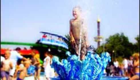 Vannparken i Legoland er populær på varme dager. Foto: Kenneth Bruun Foto: Kenneth Bruun