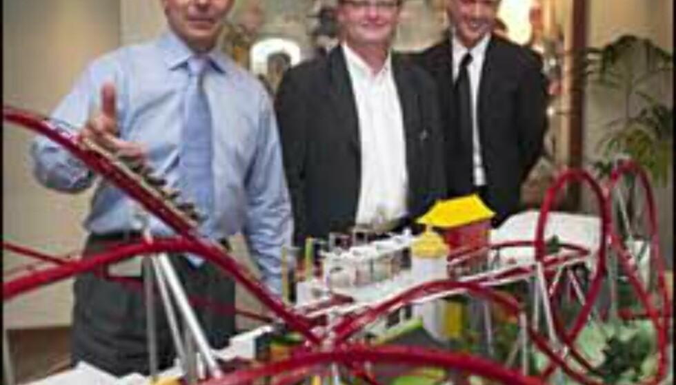 Neste års nyhet i Tivoli presenteres. Lars Liebst, Søren Robert Lund og Andreas Veilstrup Andersen. Foto: Tivoli Foto: tivoli