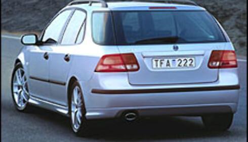 Saab 9-3 stasjonsvogn (bildet er manipulert).