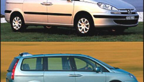 MERKELIG 2: Peugeot 807 (over): 324 liter. Citroën C8: 1.160 liter.