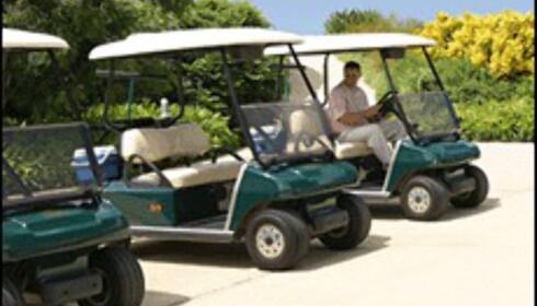 Både golfcart og caddie er inkludert i prisen. (Foto: Dag Yngve Dahle)