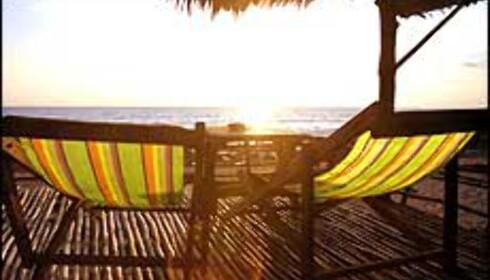 En strandstol i Thailand ... <I>Foto: Ingrid Løvtun</I> Foto: Ingrid Løvtun