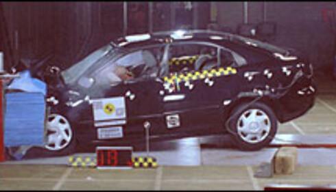 26 POENG: Mazda 6 gjorde det overraskende svakt hos Euro NCAP.