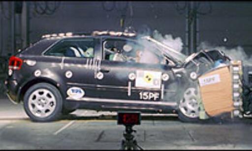 29 POENG: Audi A3 klarte ikke fem stjerner. Dermed spøker det for Volkswagen Golf, som bygges på samme plattform.