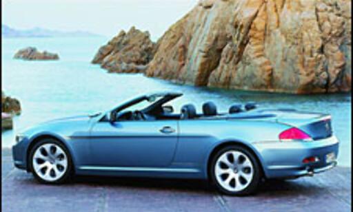 image: BMW 645Ci: Stoff-tak og muskler