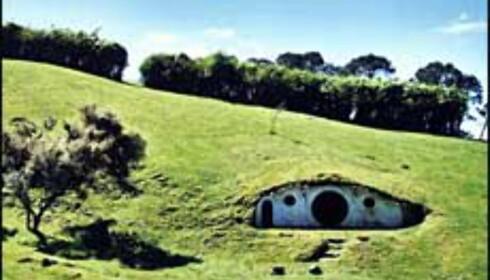 Hobbiton ble bygget på privat grunn, og er den eneste av kulissene bygget for filmen som ennå står. Foto: Det newzealandske turistkontor Foto: Foto: Det newzealandske turistkontor